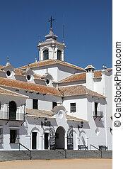 The Hermitage of El Rocio. Province of Huelva, Andalusia,...