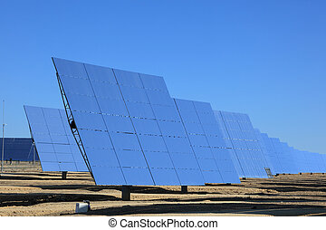 Photovoltaic panels at a Solar Power Station