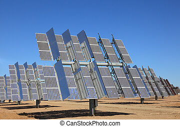 Photovoltaic panels of a Solar Power Station