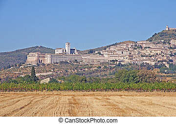 Basilica of Saint Francis of Assisi and the medieval village