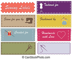 Sewing and Tailoring Labels - Sewing labels in Pantone...