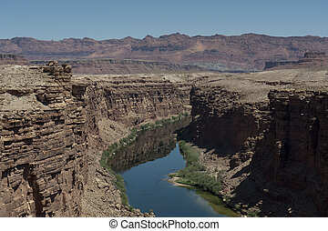 Marble Canyon, Utah, bridge view - A view from Marble Canyon...