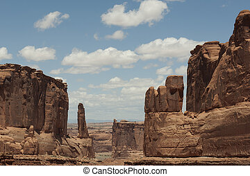 View in Arches National Park Utah - First main view of...