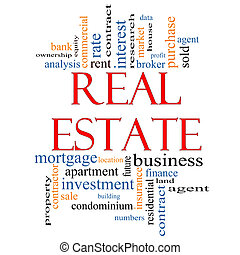 Real Estate Word Cloud Concept with great terms such as...
