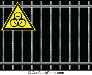 Grate biological hazard - Steel reinforcing rods of the...