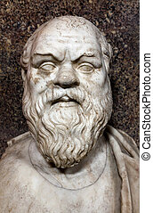 Bust of Socrates. Marble, Roman copy after a Greek original...