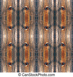 Weathered wood - Background of weathered knotted old wood as...