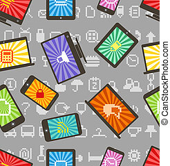 Abstract style modern gadgets seamless pattern