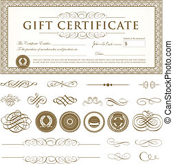 Vector Certificate Set - Easy to edit.