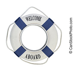 Welcome Aboard Life Preserver - Welcome Aboard round...