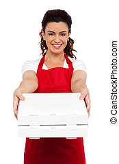 Here is your order sir. Hot pizza at your doorstep. Enjoy...