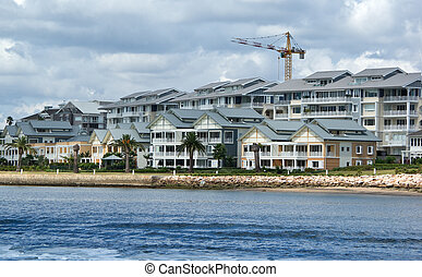 almost finished - these nice waterfront homes are almost...