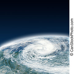 Hurricane view from space