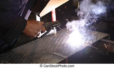 Industry - Closeup of  welding