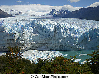 The Perito Moreno Glacier in Patagonia, Argentina Lake...