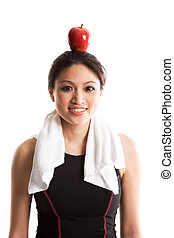 Healthy lifestyle - An isolated shot of a beautiful asian...