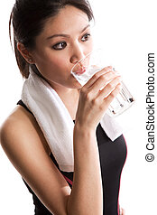 Healthy asian woman - An isolated shot of a beautiful asian...
