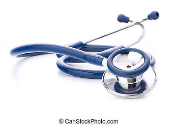 Medical stethoscope or phonendoscope isolated on white...