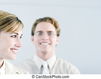 successful business team - head and shoulder shot of smiling...