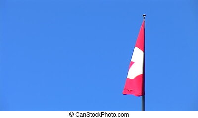 flag Swiss - Swiss flag flutters against a blue sky
