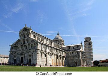 Piazza del Duomo in Piza, Italy - Piazza del Duomo in Piza,...