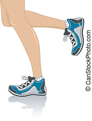 Running Legs - Cropped Illustration Featuring the Legs of a...