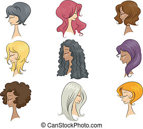 Mannequin Hairstyle - Illustration Featuring Mannequins...