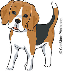 Beagle - Illustration Featuring a Cute and Curious Beagle