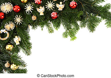christmas background - christmas decorations isolated on the...
