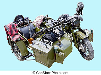Old military motorcycle