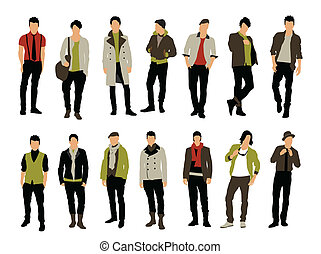 Male fashion vector