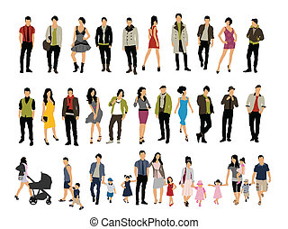 People - Different people vector