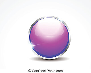 abstract glossy web button vector