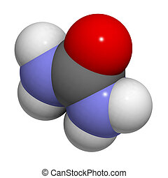 Urea carbamide molecule, chemical structure - Chemical...