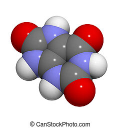 Uric acid molecule, chemical structure - Chemical structure...