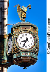 padre, tiempo, reloj,  chicago