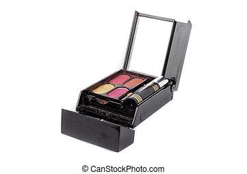 a set colorful of makeup pallet