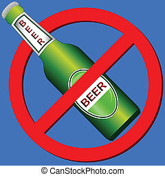 No drink symbol - No beer symbol on a blue background