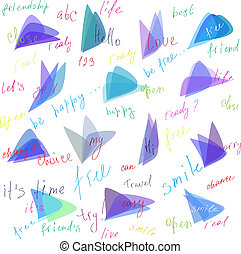 composition of words, vector - funky doodles words with...