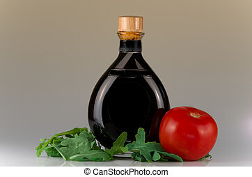 Traditional balsamic vinegar of Modena still life shot