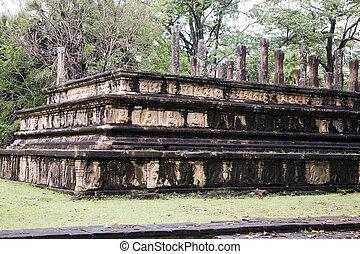 Royal Pavillion, Polonnaruwa - Image of the Royal Pavillion...
