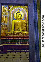 Seated Buddha Meditating - Statue of the Lord Buddha at...