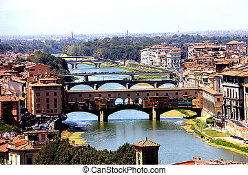 Florence, Italy - Ponte Vecchio in Florence, Italy