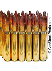 Isolated 30-06 bullets on white - A Isolated 30-06 bullets...