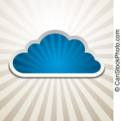 Cloud Background Vector abstract design