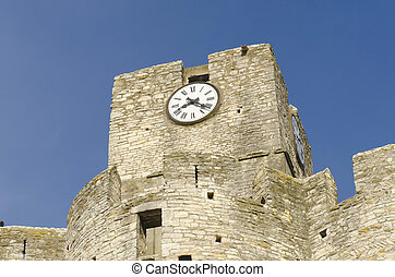 old church clock, medieval building