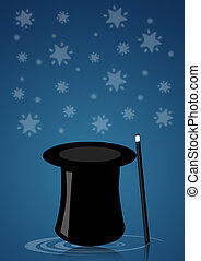 Magic hat - Illustration of a magic hat for magician