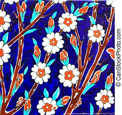Tile - Old Handmade Turkish Tiles