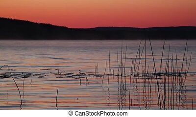 Platte Lake Dawn - Loop features Michigan's Platte Lake just...