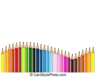 pencils - illustration of colored pencils for school and...